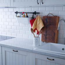 Uus köök/new kitchen. Pilt on tehtud enne kraanikausi lõplikku paigaldamist. Aga on ikka jumalik küll, eks!